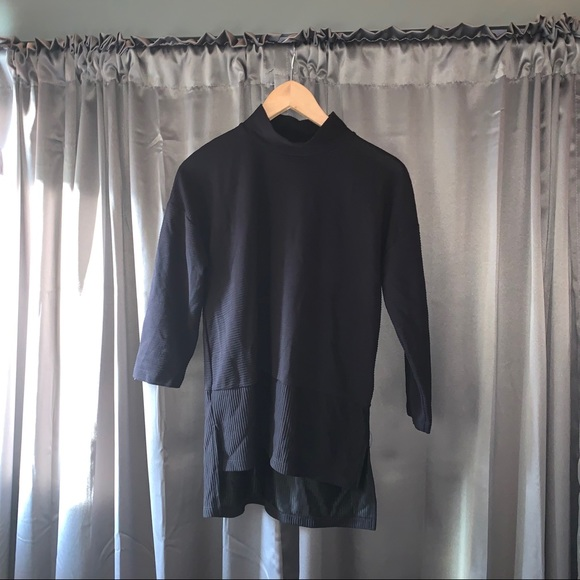 NWT black mock neck shirt